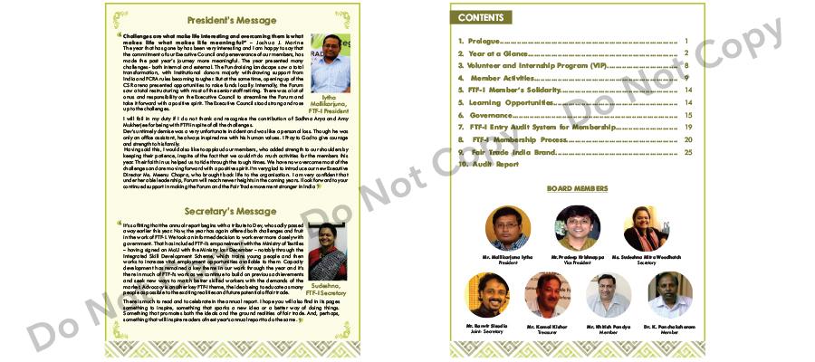 Fair Trade Forum India Annual Report
